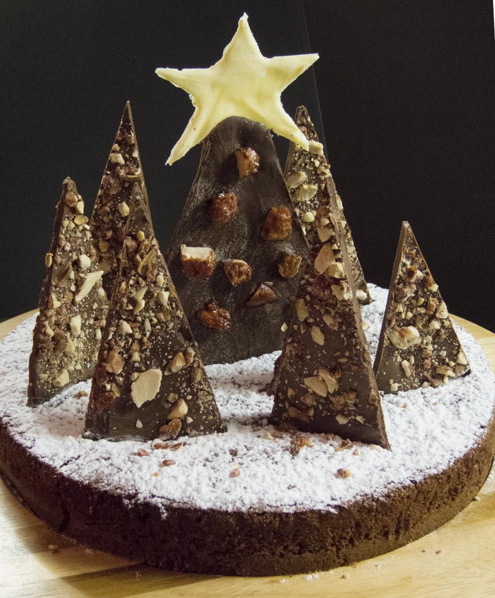 Cake design: la foresta di Natale al cioccolato - Ricetta ...